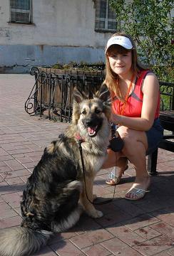 Катя всегда мечтала о собаке